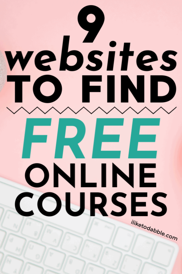 How to find free online courses for your business. Image of keyboard in background. #freecourses #freestuff #sidehustle #freelearning #digitalmarketing