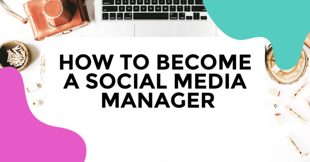 social media manager. featured image of laptop on desk.