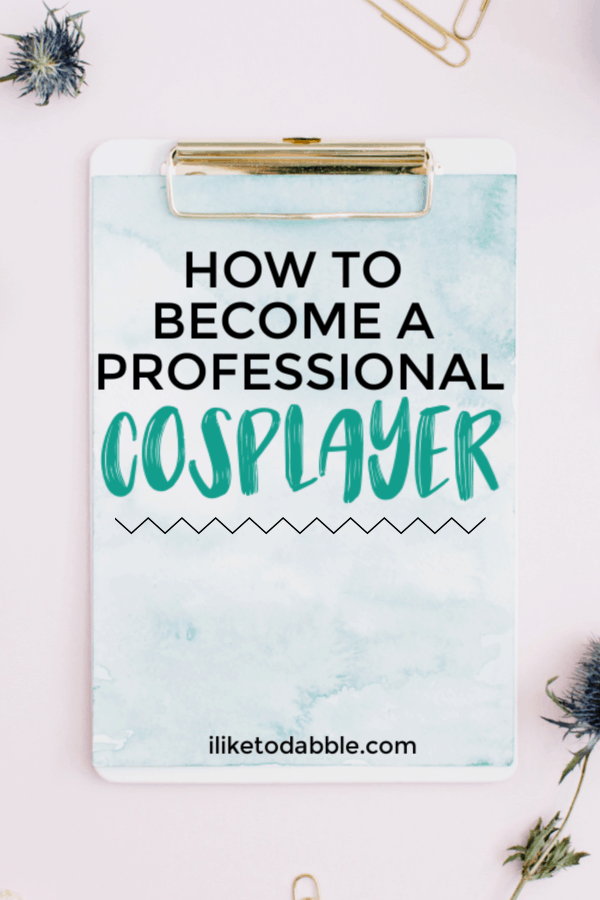 How this professional cosplayer monetizes her craft and cosplays for a side hustle. Image of clipboard and paperclips. #entrepreneur #sidehustles #cosplay