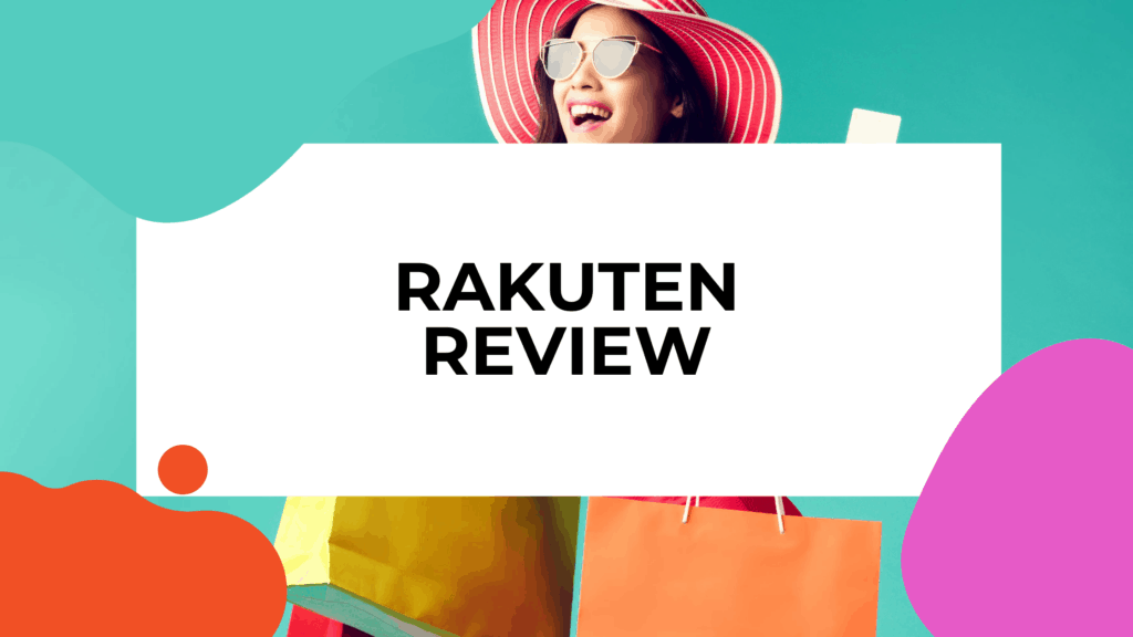 rakuten review featured image of woman in sun glasses and a sun hat carrying shopping bags