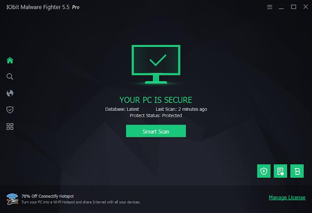 IOBIT malware fighter pro key