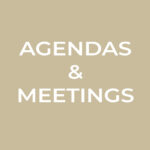Link to agendas and meetings