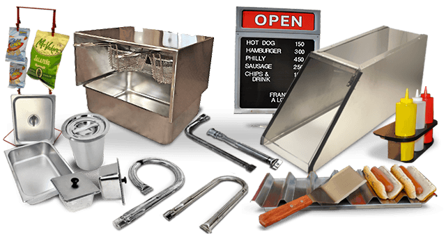 mobile food cart accessories