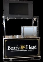 boar's head concession cart