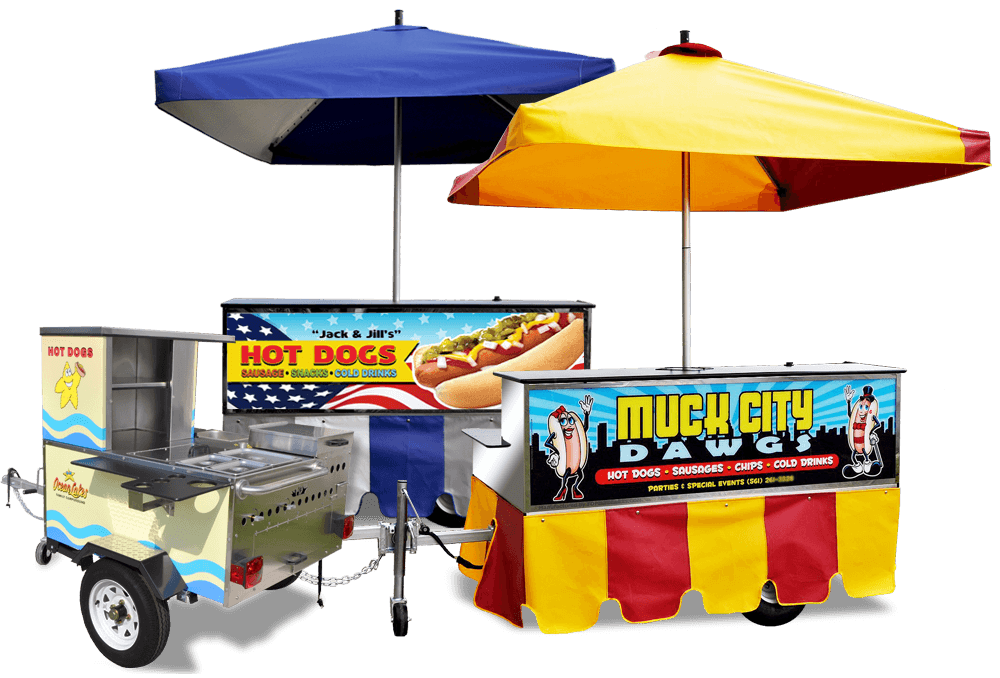 hot dog carts