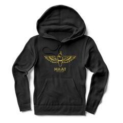 MAAT Hoodie in Black with Gold Leaf