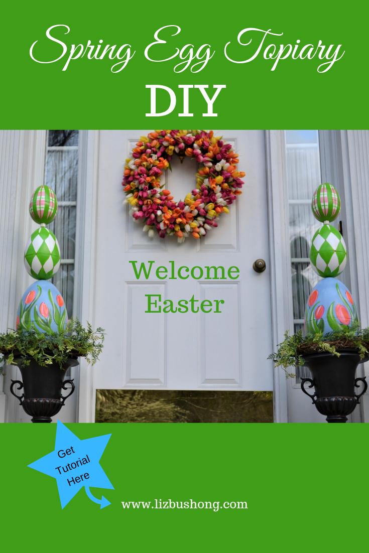 Spring Egg Topiary DIY lizbushong.com