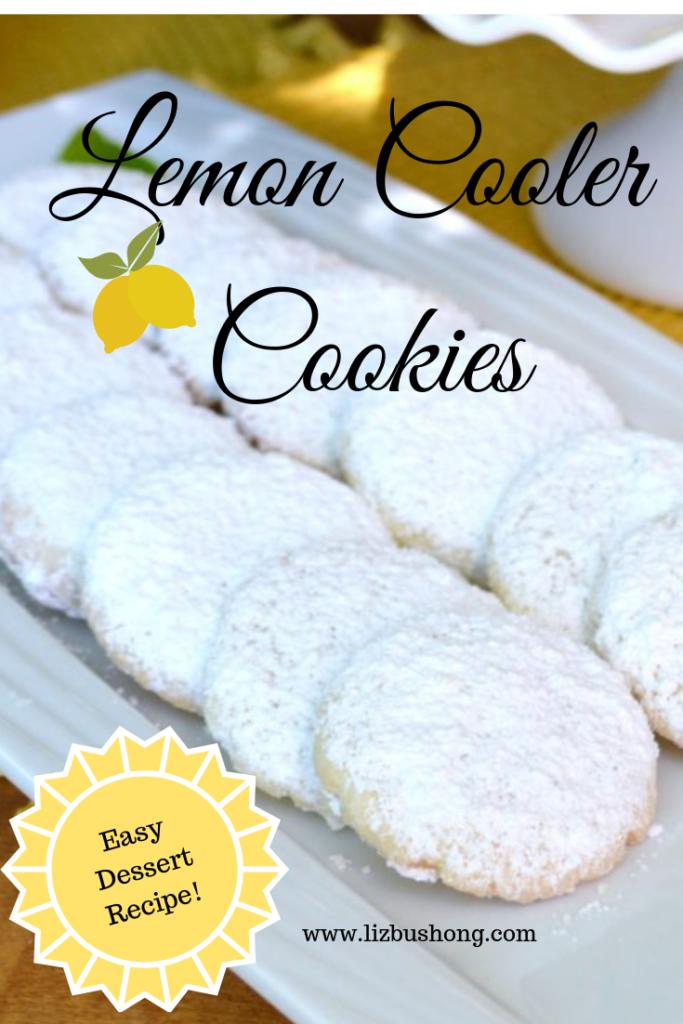 Lemon Cooler Cookies lizbushong.com