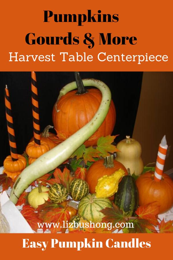 Pumpkins Gourds & More Table Scape Idea