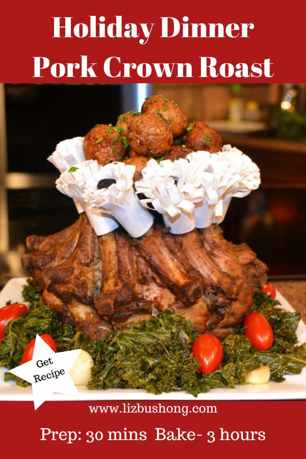 Holiday Pork Crown Roast Lizbushong.com