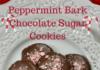 Peppermint Bark Chocolate Sugar Cookies lizbushong.com
