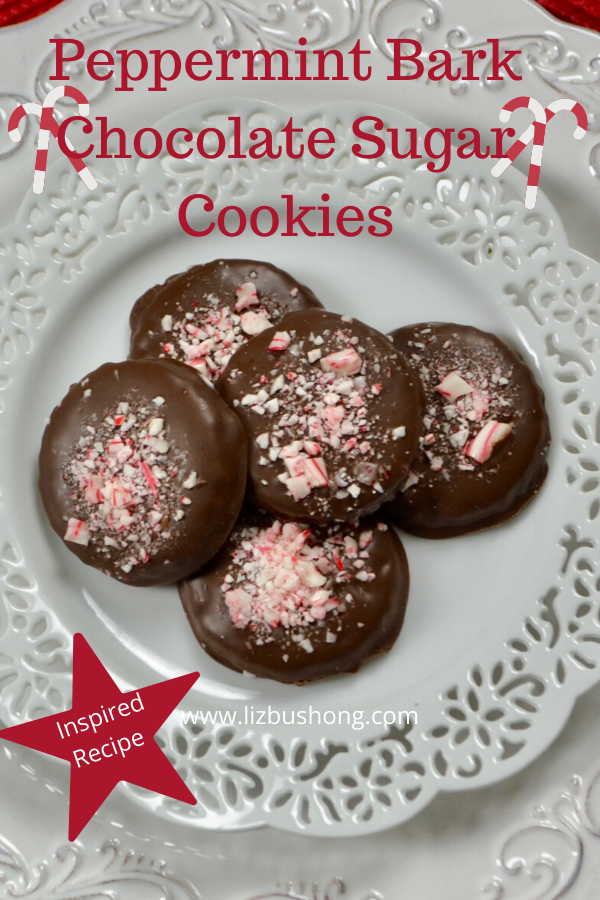 Peppermint Bark Chocolate Sugar Cookies lizbushong.com