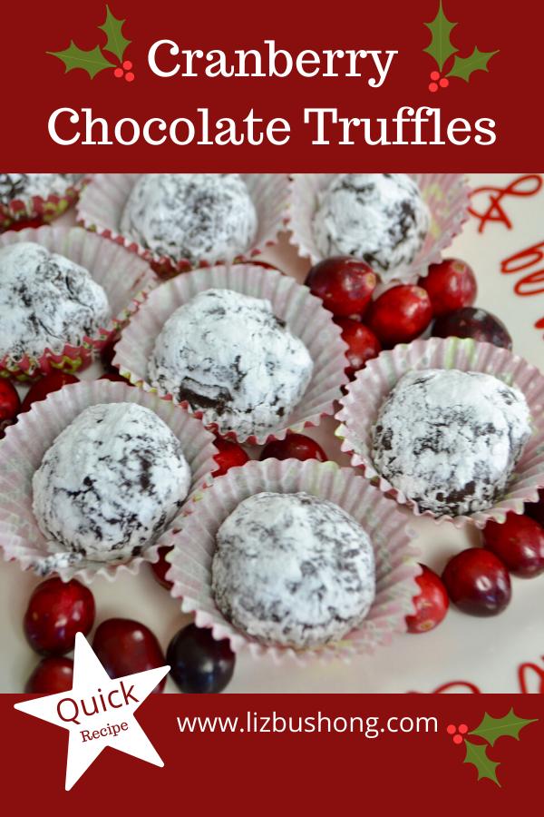 Sweet Cranberry Chocolate Truffles lizbushong.com