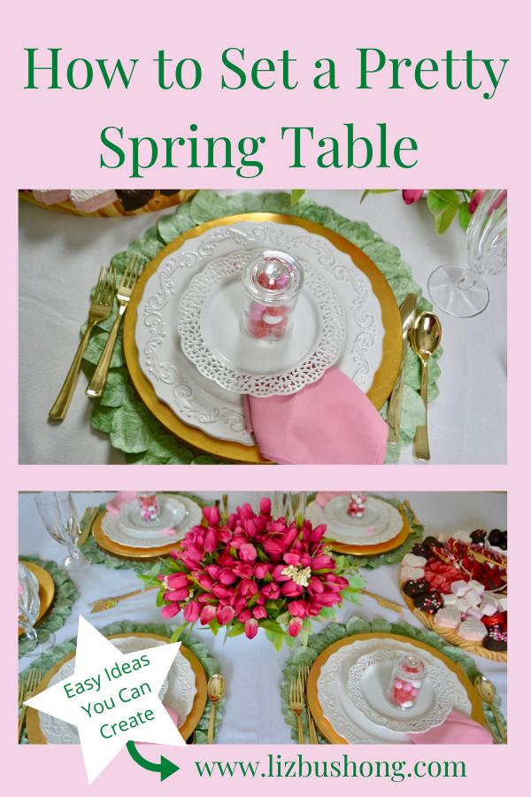 How to Set a Spring Table Tulip Centerpiece lizbushong.com