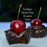 No Bake Gluten Free Brownie Tarts lizbushong.com