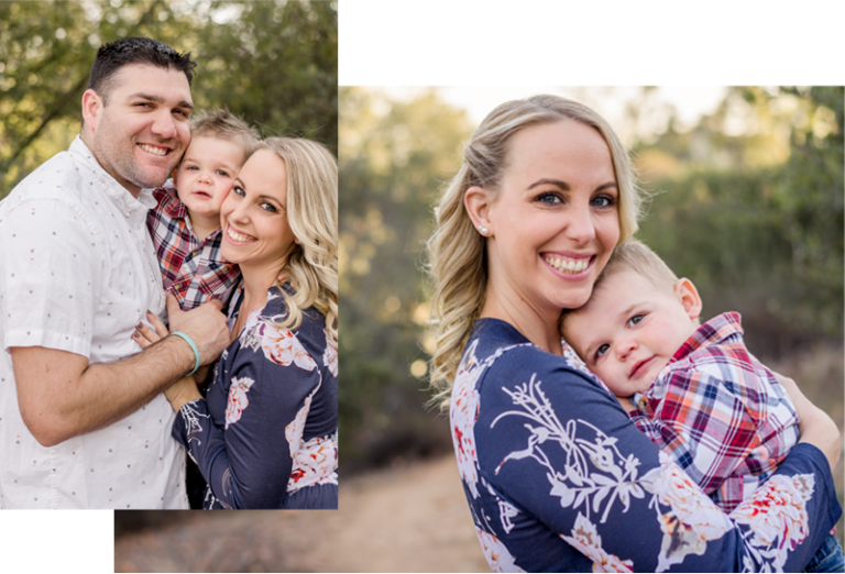 San Diego family photography mom dad toddler collage photo shoot