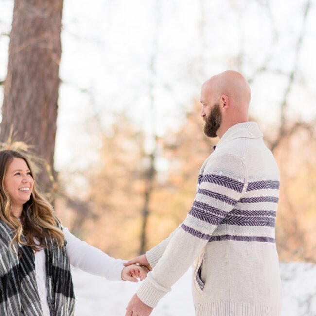 San Diego Engagement Photo in the Snow
