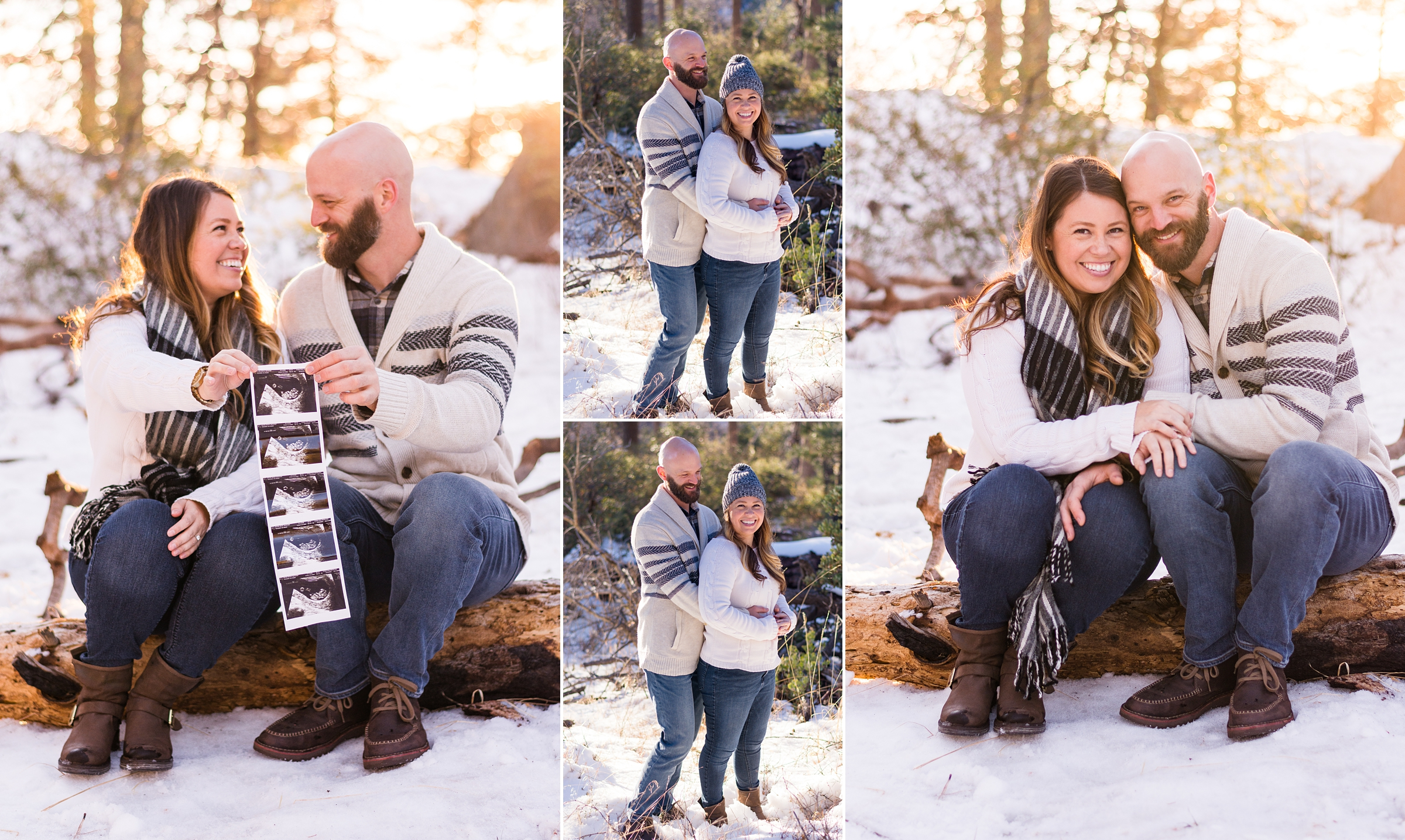San Diego Couple Engagement Photos in the Snow
