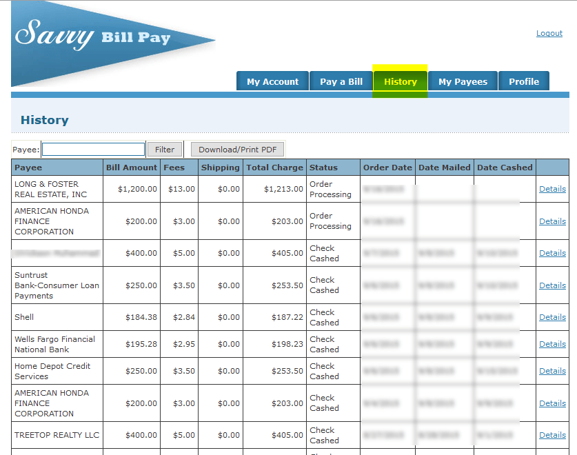 Pay Your Bills Under The Pay A Bill Tab And We Do The Rest