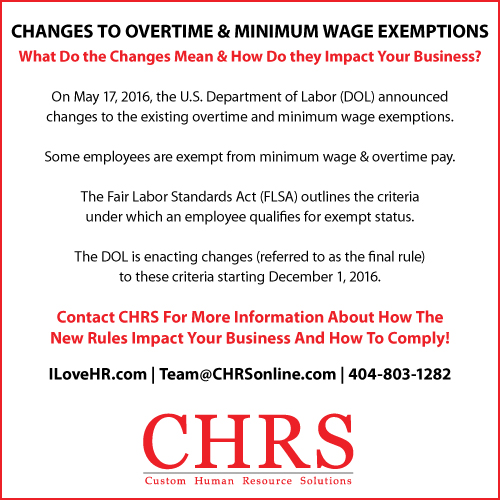 CHRS Overtime Exemptions