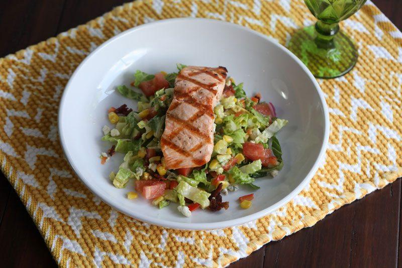 Southern salmon chopped salad