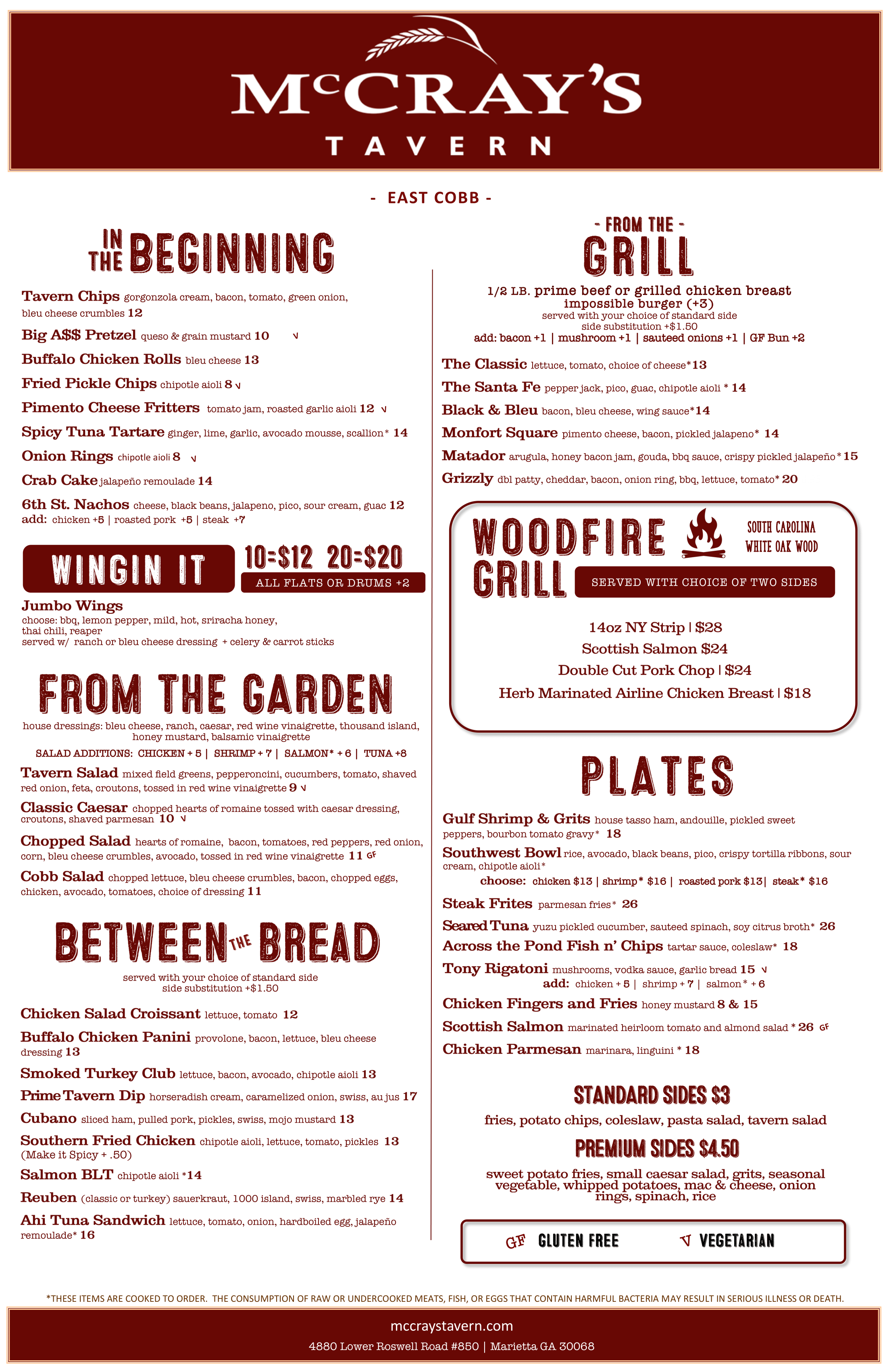 East Cobb Menu