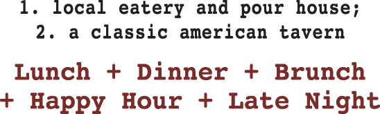 Lunch | Dinner | Brunch | Happy Hour