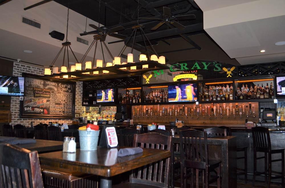 mccrays dining area