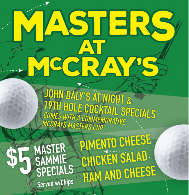 Masters at McCray's
