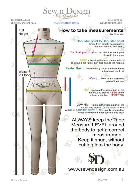How To Take Measurements Pg 3