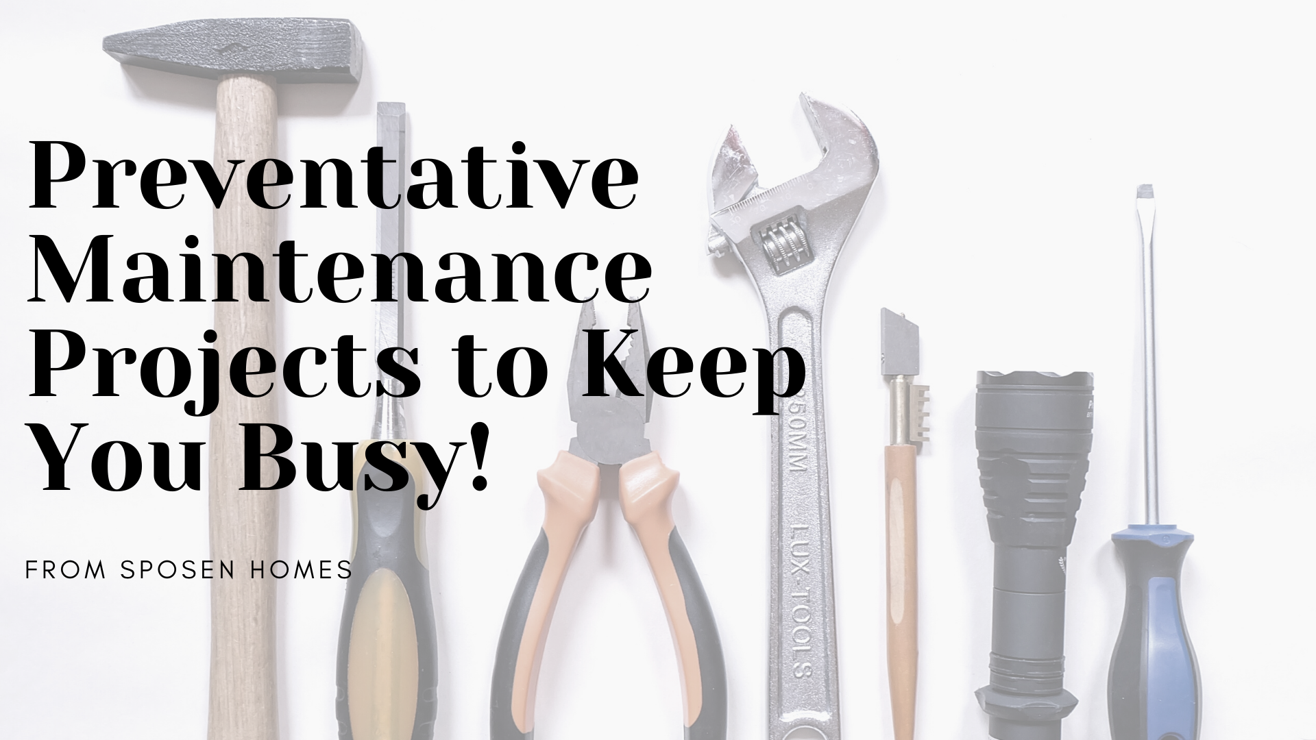 maintenance tools on a white background