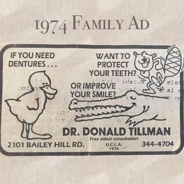 1974 Tillman Family Ad