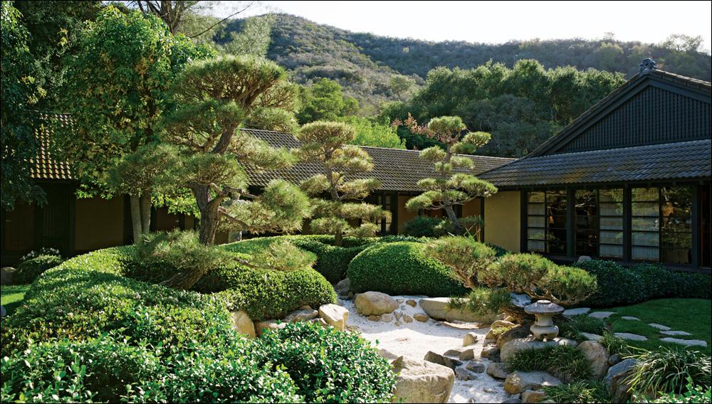 Beautifully manicured gardens
