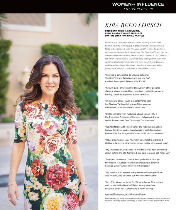 Kira Reed Lorsch - Angeleno Magazine's 2020 Women of Influence