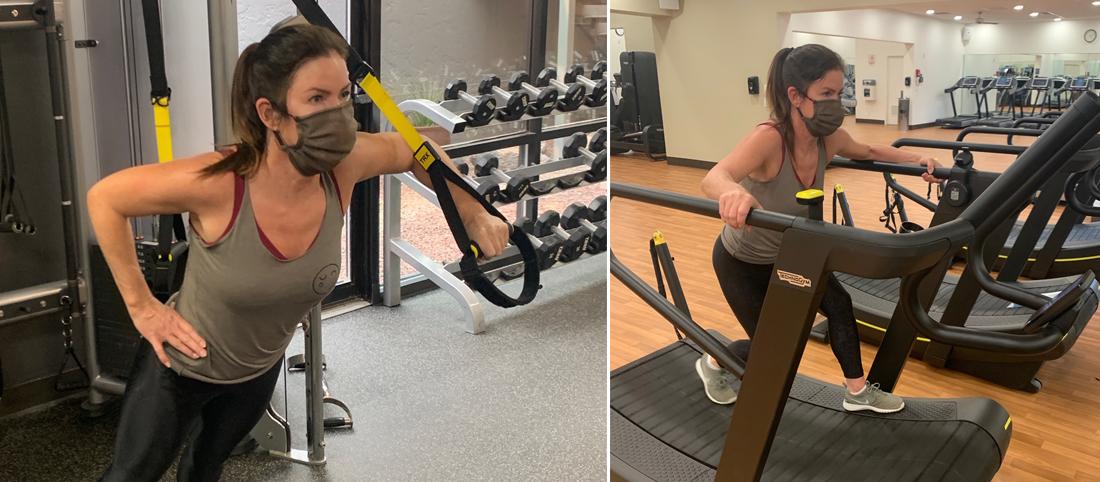 Kira doing a serious workout