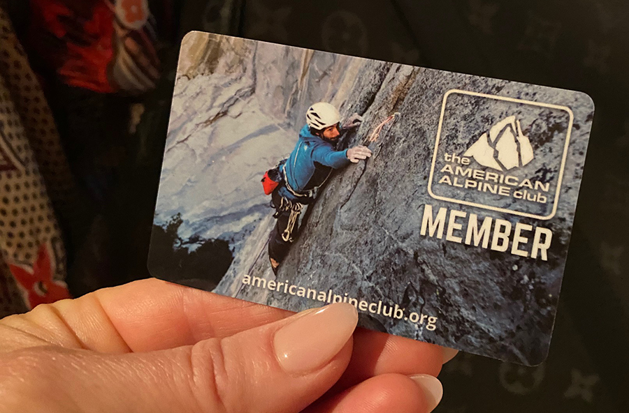 The American Alpine Club Member card
