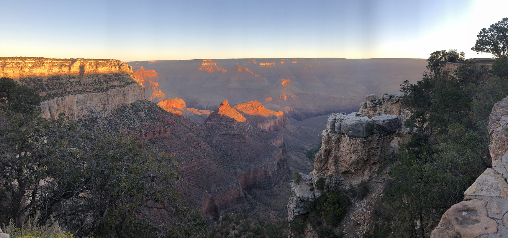 Beautiful sunset at the Grand Canyon