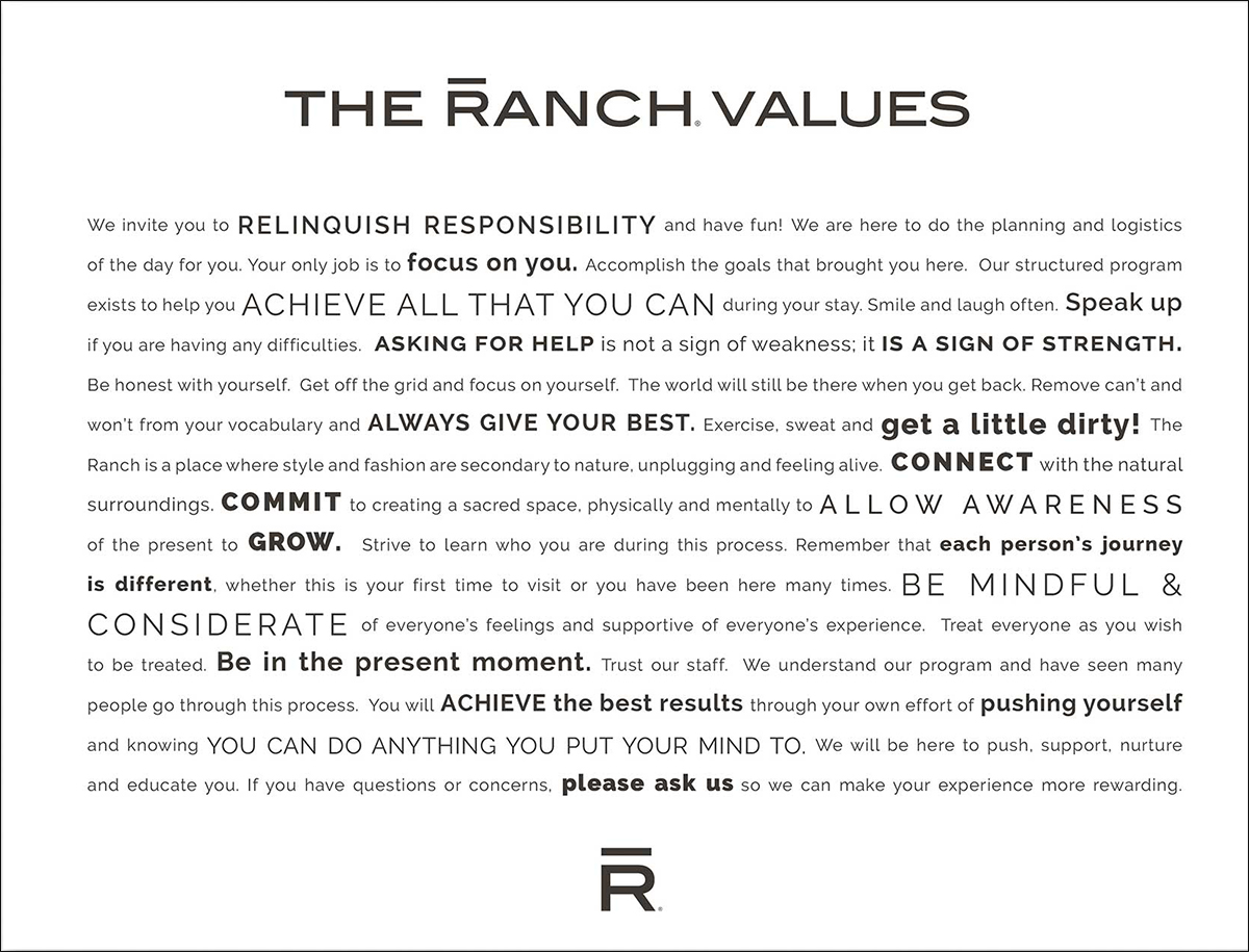 The Ranch Values