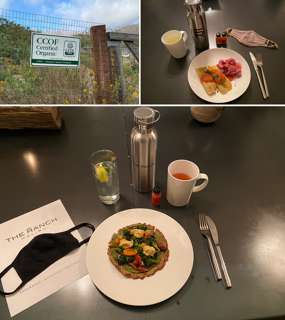 Delicious courses at Ranch Malibu