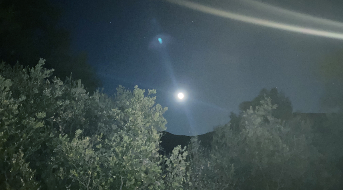 Moon over the canyons