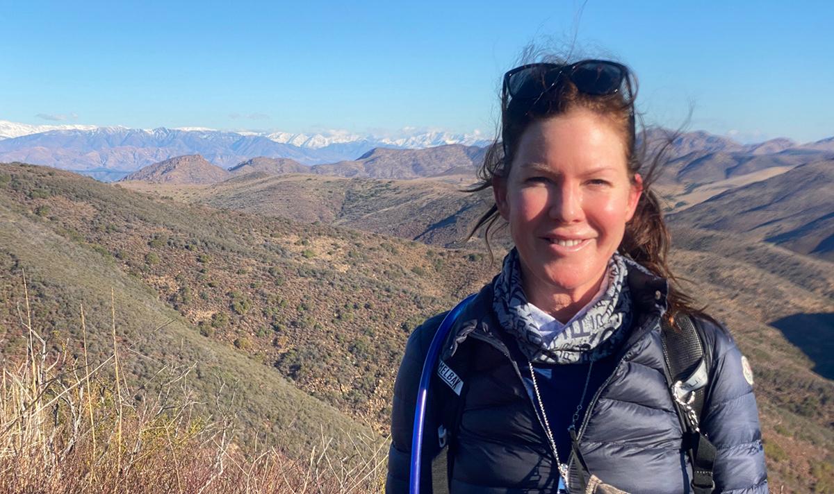 Kira hiking at Malibu Ranch