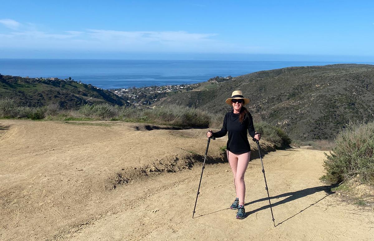 Kira hiking in Laguna