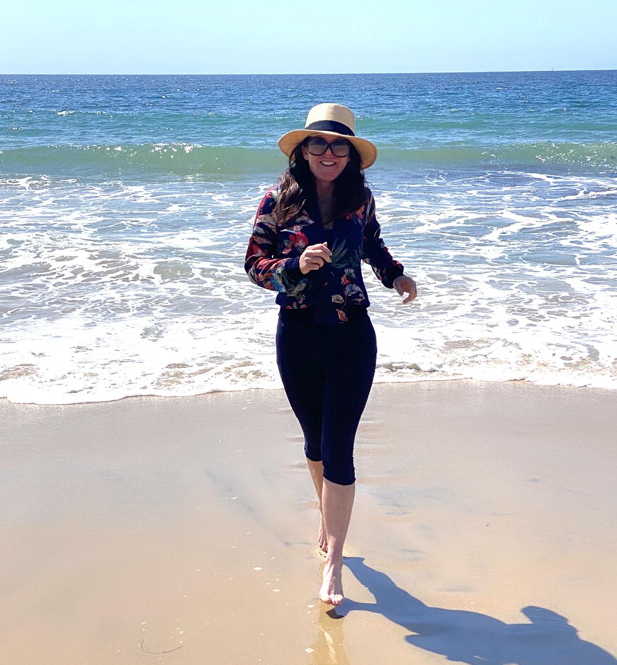 Jogging at Laguna Beach