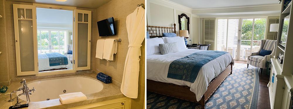 Hotel Room and Bathroom at Shutters on the Beach, Santa Monica