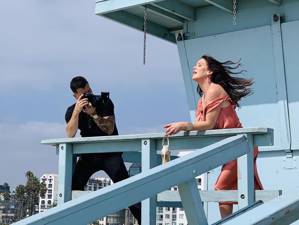 Kira's photoshoot on Santa Monica Beach