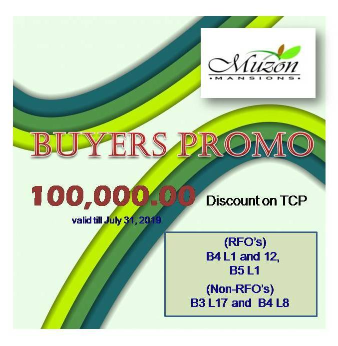 Muzon Mansions July Promo