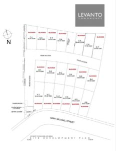 Levanto subdivision Map