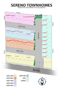 Sereno Townhomes Subd Map as of Nov 18, 2019