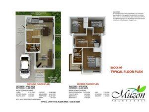 Muzon Mansions 3BR Floorplan