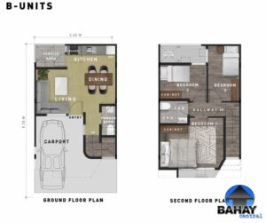 Masinag Townhomes Model B Floorplan